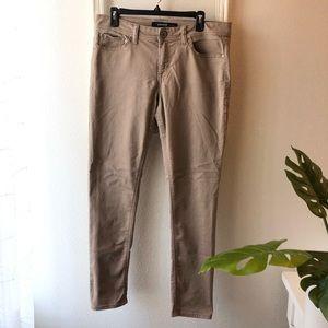 Jordache dark khaki skinny jeans